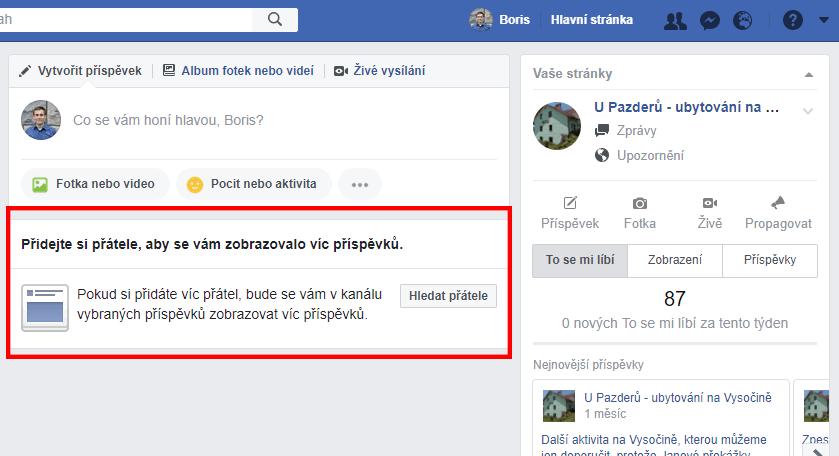 nov0 funkce facebooku