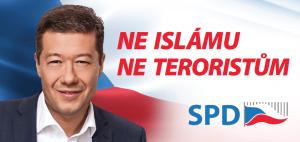 tomio okamura bilboard ne islámu před volbami 2018
