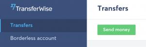 Transferwise - poslání peněz