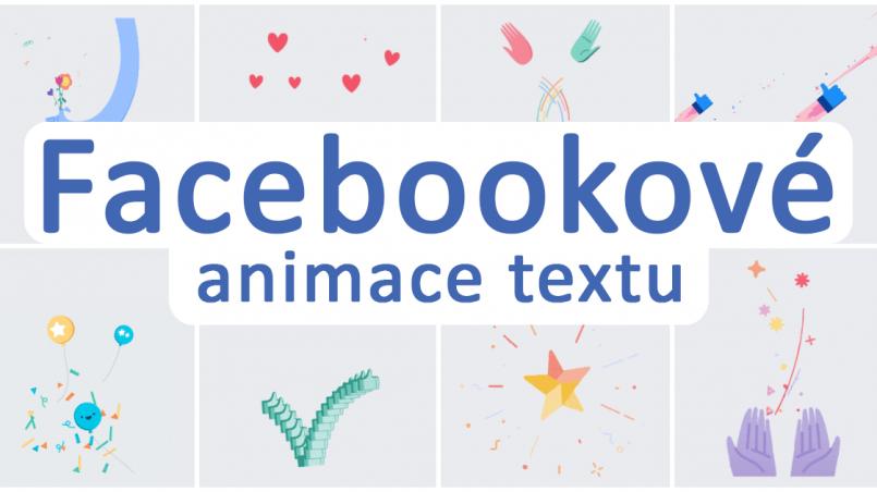 Facebook animace textu