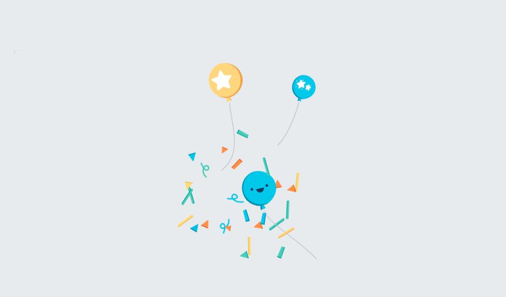 Facebook animace textu - gratulace