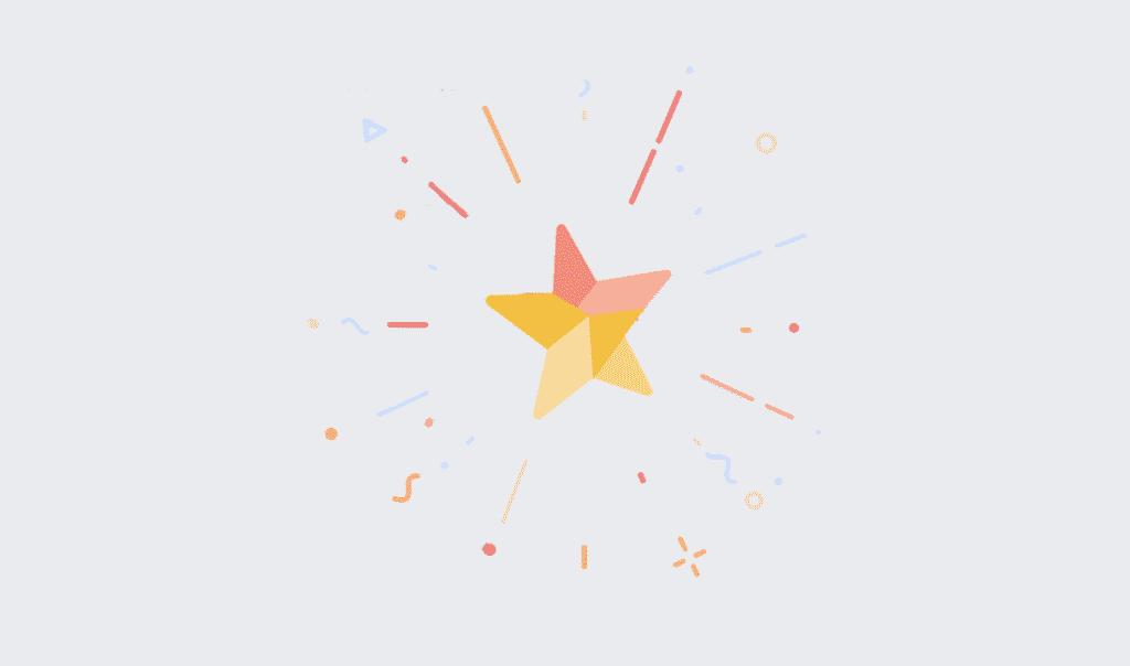 facebook animace textu - Hvězda