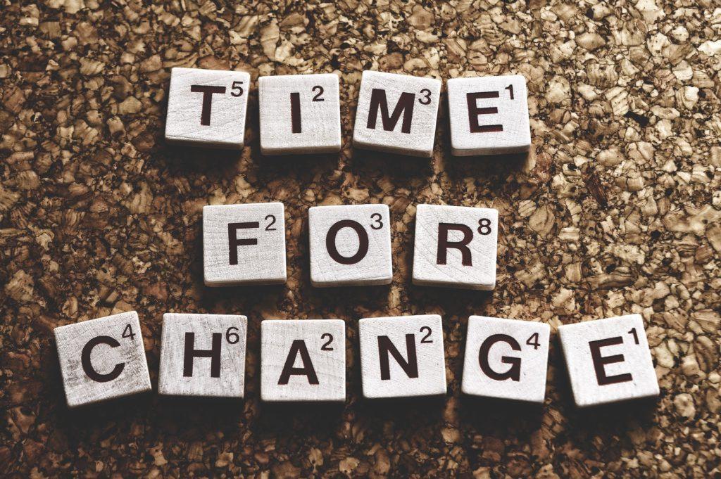 čas na změnu, změna mysli
